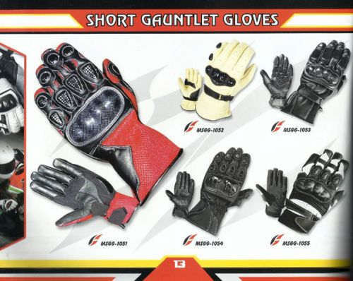 Short Gauntlet Gloves, Motor Bike